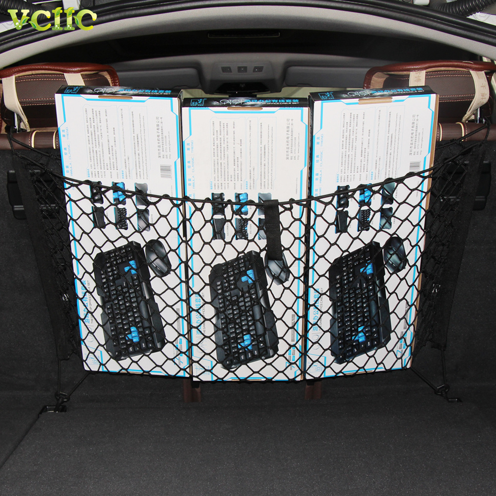 New fashion envelope style car trunk cargo net for toyota van venza yaris highlander prius hilux