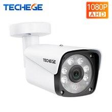 Techege AHD камера 1080 P цилиндрическая камера видеонаблюдения водонепроницаемый металлический корпус ночное видение 2400TVL безопасности для системы