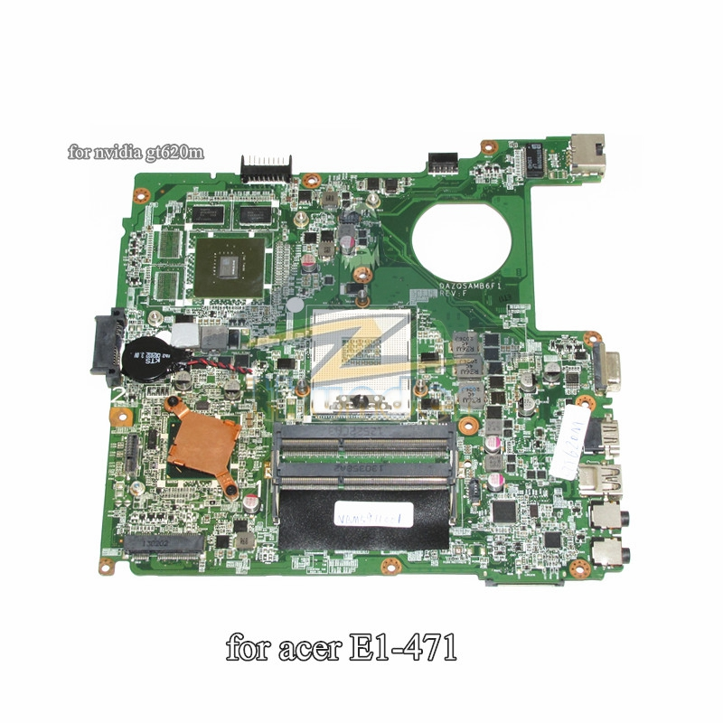 NBM5911001 NB.M5911.001 DAZQSAMB6F1 for acer E1-471 E1-471G laptop motherboard HM77 GT620M DDR3 лампочка филипс 007054 b1s 35w e1 04j dot 9285 141 294