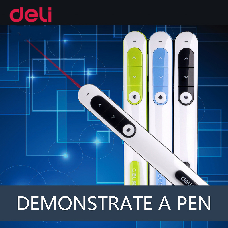 Deli Cute Pen Laser Pointer High Power Red laser Pens School & Office Suopplies Laserpointer Of Presentation PPT 100mw650nm cross red laser head high power red positioning marking instrument high quality
