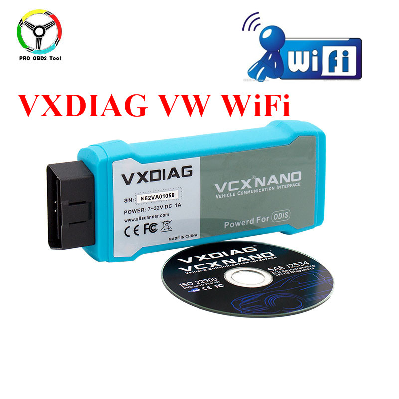 2018 Latest ODIS 3.0.3 VXDIAG VCX NANO For VW Series WiFi Connection VCX NANO OBD2 Better Than VAS 5054A Car Diagnostic Tool