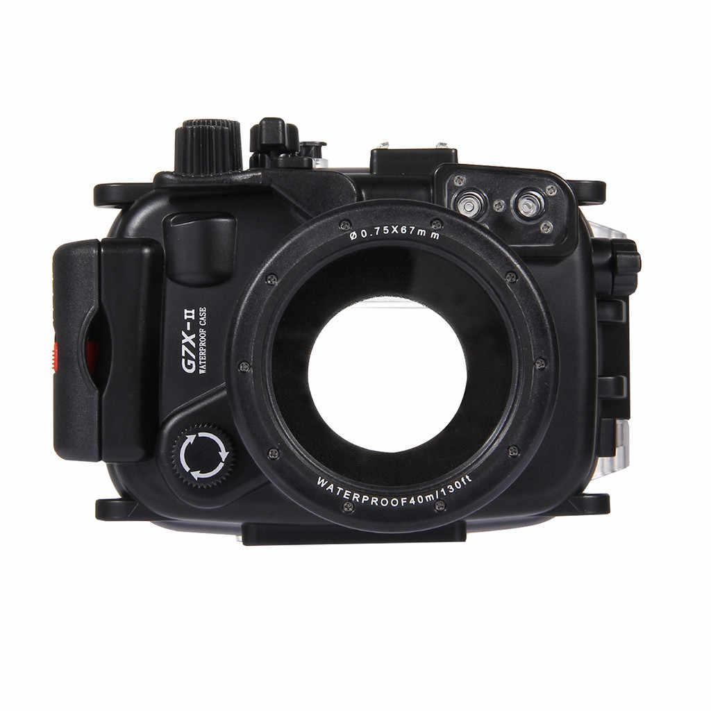 Sıcak satış sualtı 40m yüzme dalış su geçirmez kamera çantası Canon G7 X Mark II satın alma