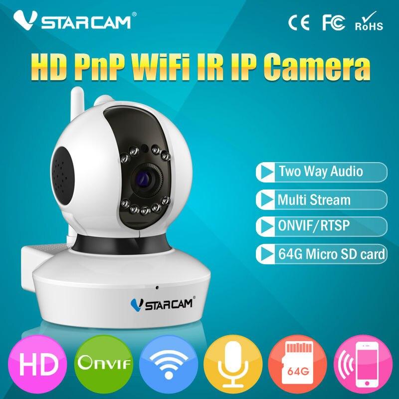 ФОТО Vstarcam Wireless WiFi HD 720P IP Camera P2P Pan Tilt IR Cut Security CCTV ONVIF 1.0MP PNP IP Camera IPC 3DBi Antenna iphone App