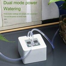 DIY Micro automatyczny System nawadniania kropelkowego 5 ~ 10 doniczek z własnym zraszaczem wodnym System ładowania USB podlewanie ogrodu