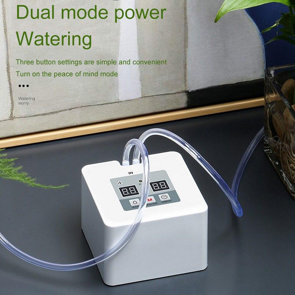 Nouveau système de Kit d'irrigation goutte à goutte Micro automatique DIY5 ~ 10 Pots arroseur intérieur à eau avec minuterie de 30 jours et chargement USB-25