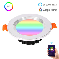 Smart home Downlight light bulb work with Alexa Google home WIFI/Voice Control RGB Multicolor Dimming Scene Light Energy Saving