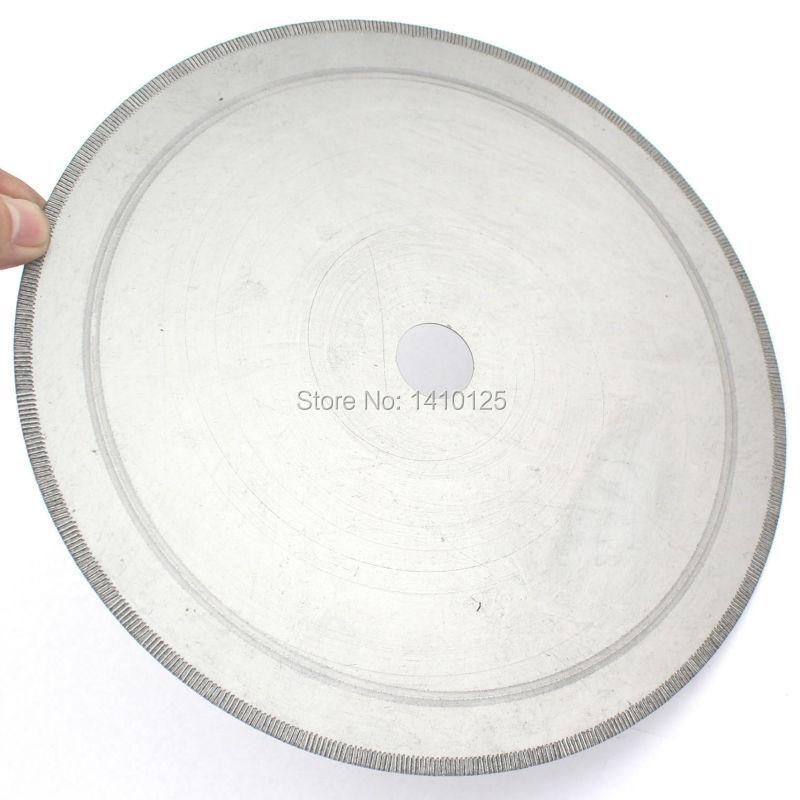 """10 """"pouces 250 mm jante crantée 1.1 mm diamant lapidaire dalle de roche lame de scie trou d'arbre 25 mm avec bague 5/8"""" pour gemmes agate jaspe"""