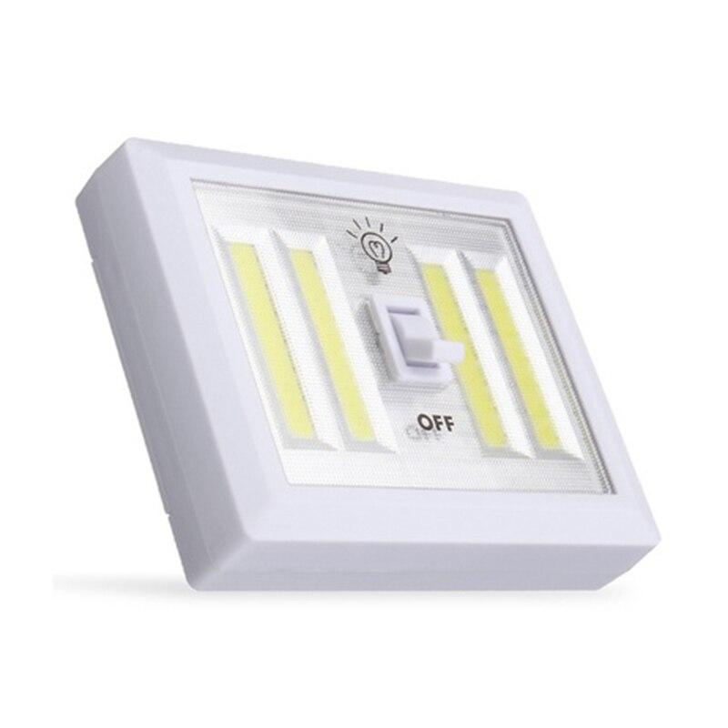 1 шт. удара переключатель настенный светильник светодиодный Батарея питание Garage Кабинет Шкаф лампы аварийного Отдых на природе ночные огни