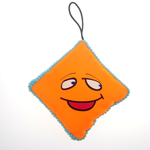 2016 New Cheap Oxford Pet Toys High Quality Sound Voice Dog Chewing Entertainment Cotton toy Smile Face Cartoon Supplies 2 COLOR