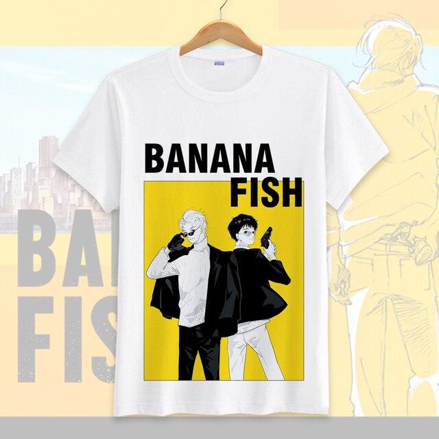dfaa31764 2018 gorąca sprzedaż Anime ryba bananowa T-shirt Cosplay kostium dla kobiet  mężczyzn letnia koszulka
