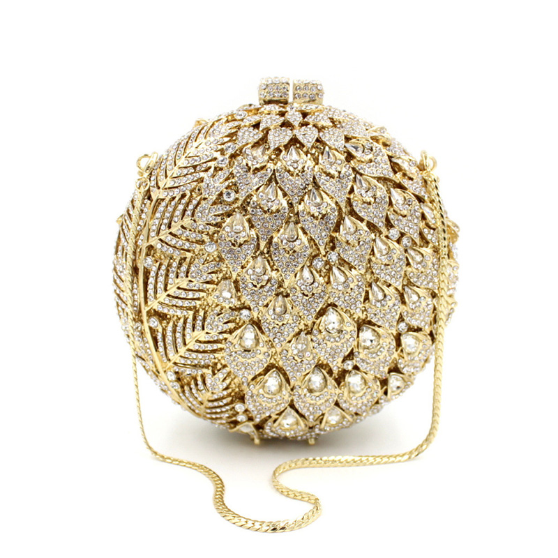 Newest Luxury Diamond pineapple Evening Clutch Bag for Party Purse Wedding bag Ladies Crystal Evening Cocktail Handbag as16 9 rose top fashion luxury diamond african handbag purse for party wedding