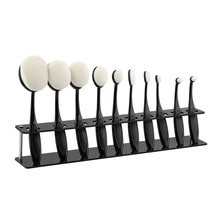 10 Grids Toothbrush Oval Makeup Brushes Display Holder Stand Storage Boxes Organizer Brush Showing Rack