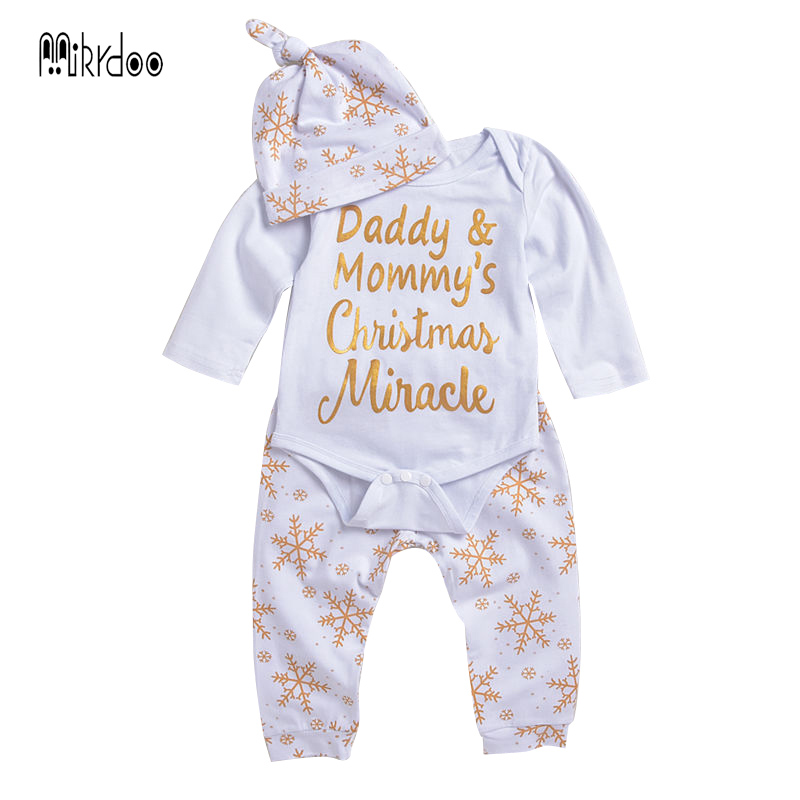 Baby boy girl clothes kids outfit toddler playsuit christmas clothing set cotton jumpsuit daddy mommy romper snow pants hat Best us stock floral newborn baby girls lace romper pants headband outfit set clothes infant toddler girl brief clothing set playsuit