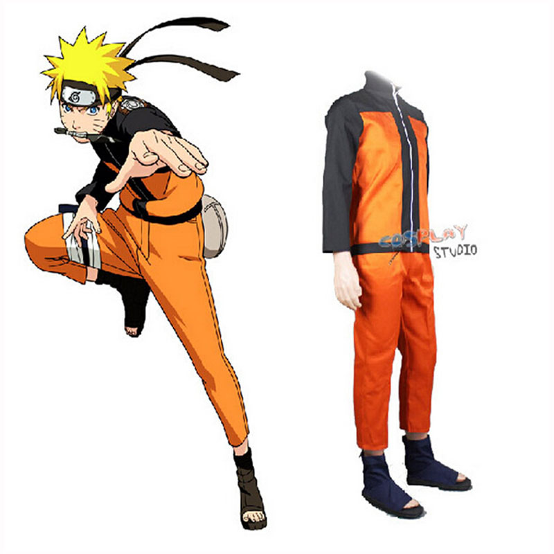 Naruto Cosplay Costumes Anime Naruto Outfit For Man Show Suits Japanese Cartoon Costumes Naruto Coat Top Pants Adults(China)
