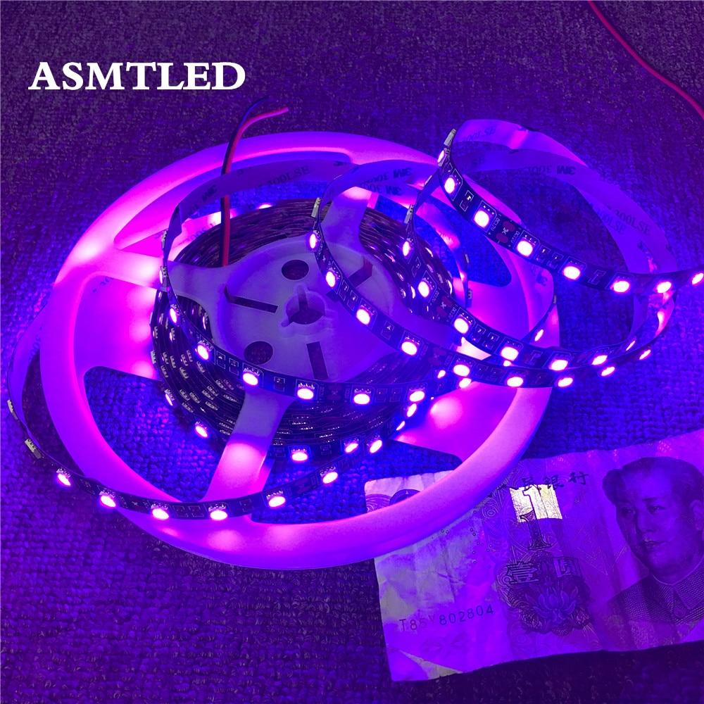 5050 SMD UV Ultraviolet Purple 300 LED Strip Light Flexible DC 12V Waterproof 5M
