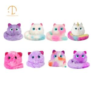 Image 1 - 7 tipos Led plüschtier de sonido de gato hablando flash muñecas de peluche Animal gato Regalo de Cumpleaños luminosa gato las niñas