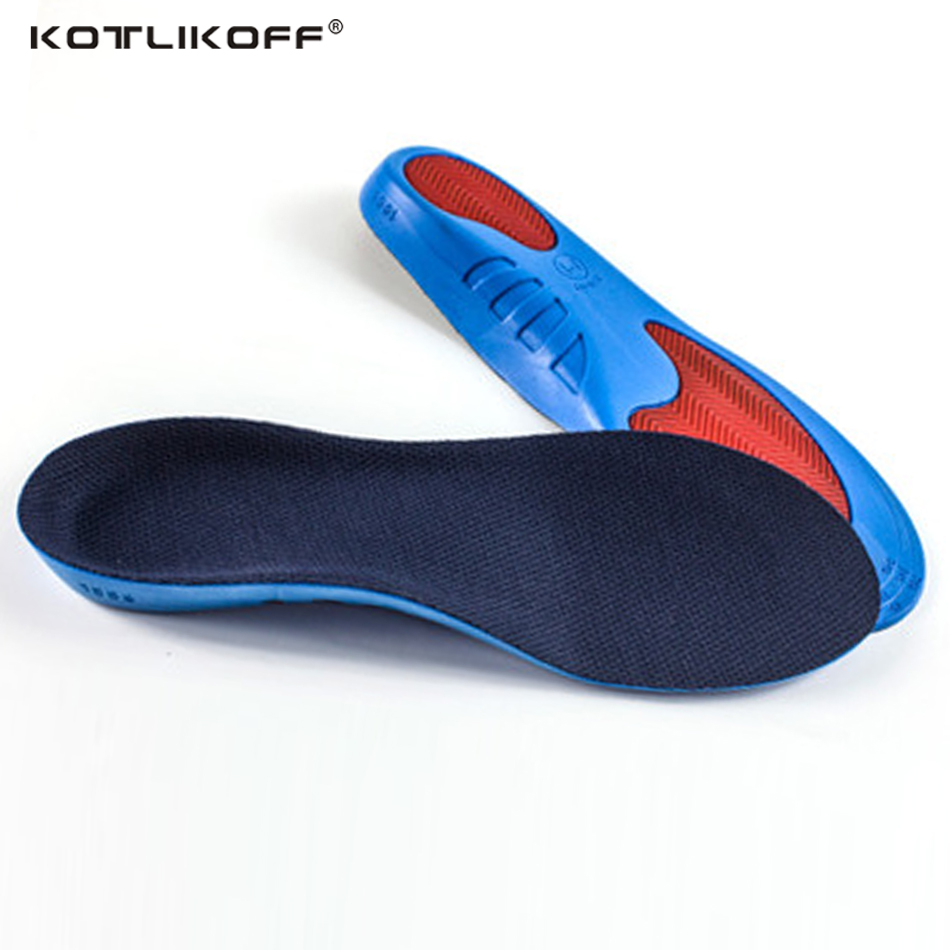 Unisex PU Athletic Comfort Insoles with Shock Absorption Pads Daily Wear Work Shoes Inserts Arch Support Insole Orthotic Insoles pu shock absorption arch support insoles