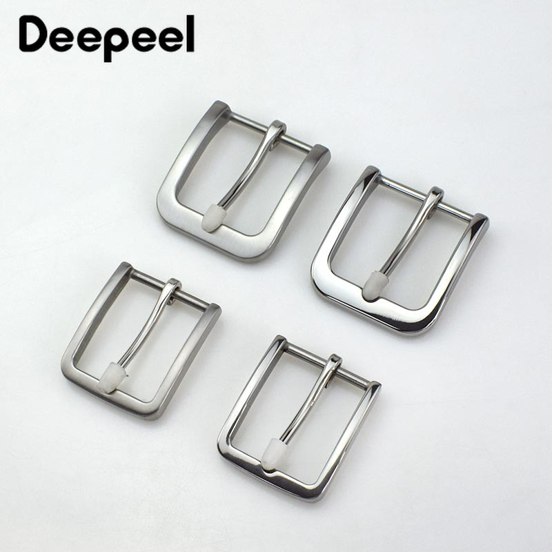 Deepeel 35/40mm Solid Stainless Steel Cowboy Belt Buckle DIY Leather Craft Hardware Metal Men's Leather Belt Accessories AP012