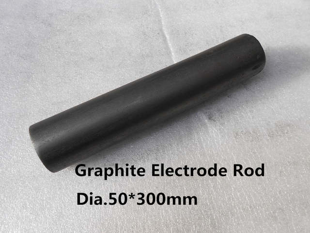 Dia 50*300mm graphite electrode rod , Solid Graphite rod EDM Glass  Casting,free shipping 1piece