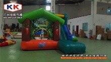 giraffe inflatable cartoon bouncer with slide inflatable combo for kids cartoon commercial inflatable bouncer for kids