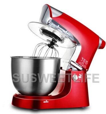 5L Ciotola In Acciaio Inox 1000 w Per Uso Domestico Da Cucina Cibo Elettrica Stand Mixer Uovo Frullare Pasta Crema Frullatore Apparecchio