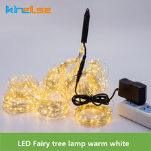 200 LEDs LED Fairy String Lights 10 draad Koperdraad Tak lichten Wedding Holiday Party Verlichting 110 V 230 V power Adapter Inbegrepen(China)