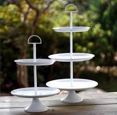 2 niveau/3 tiers blanc gâteau stand Sugarcraft Cupcake Stand De Gâteau Glaçage Crème Fleur Décoration Nail Set Outil dans Béquilles de Maison & Jardin