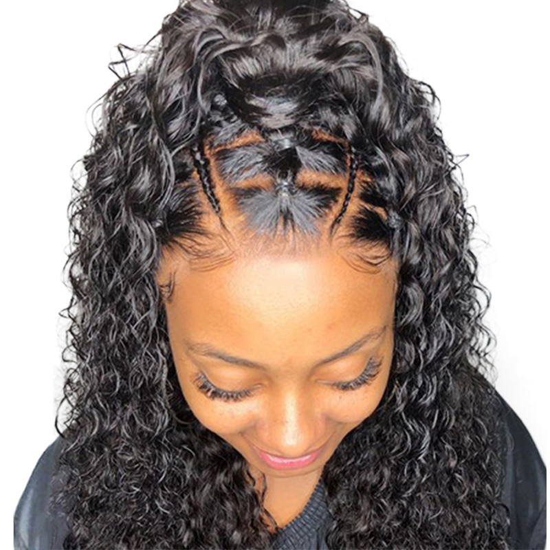 250% Density Curly Lace Front Human Hair Wigs Pre Plucked Remy Hair Honey Queen