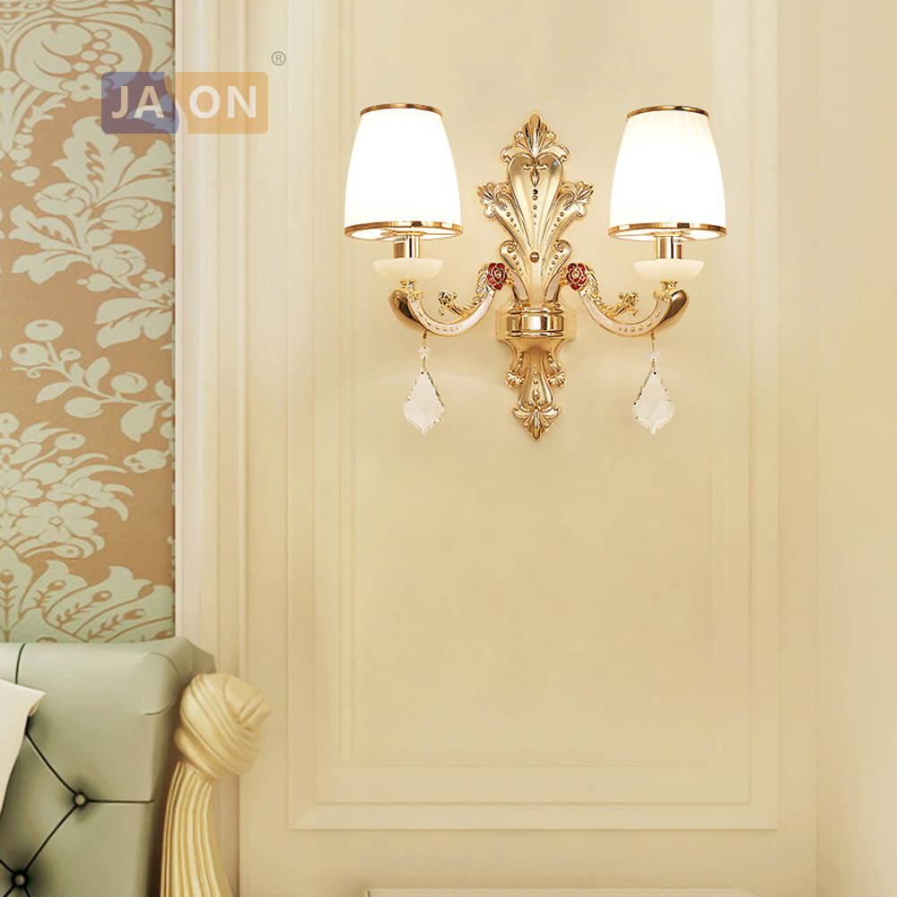 led e14 Nordic Zinc Alloy Glass Crystal Gold White LED Lamp LED Light Wall lamp Wall Light Wall Sconce For Bedroom led nordic iron crystal gold clear led lamp led light wall lamp wall light wall sconce for bedroom corridor