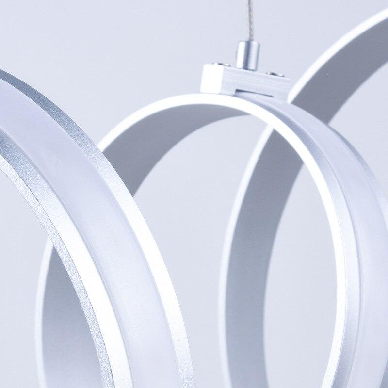 Gratis verzending Ring dimmen led eetkamer woonkamer kroonluchter eenvoudige moderne persoonlijkheid creatieve art lampen 90 260 V - 6