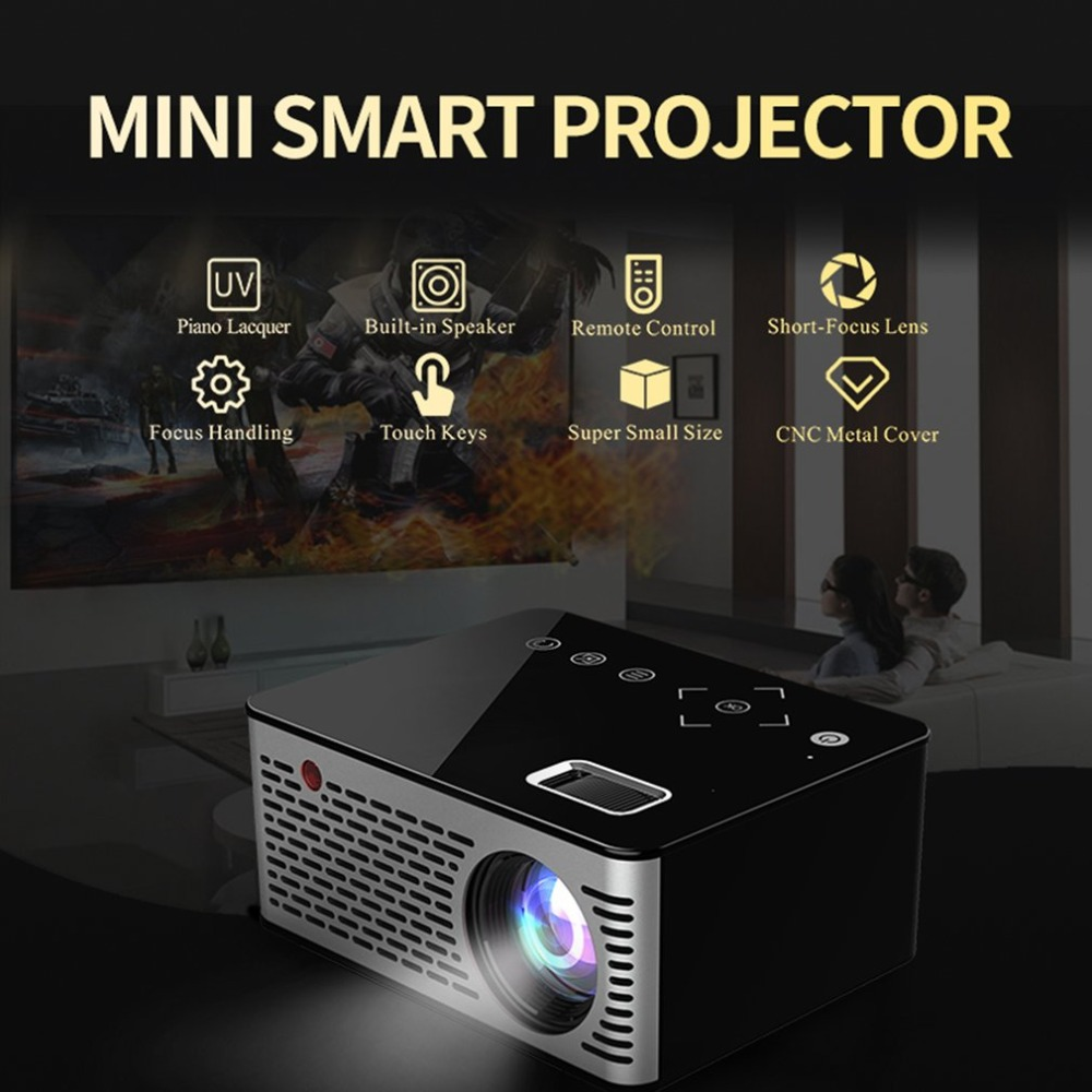 T200 Pocket Mini LED LCD Projector Touch Sensitive Buttons Home Theater Cinema HDMI AV USB proyector Beamer 1080P HD Power BankT200 Pocket Mini LED LCD Projector Touch Sensitive Buttons Home Theater Cinema HDMI AV USB proyector Beamer 1080P HD Power Bank
