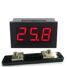 Panel amperímetro amp ampere meter DC 0-50A con derivación 50A/75mv resistor de desviación DC4.5-28V fuente de alimentación