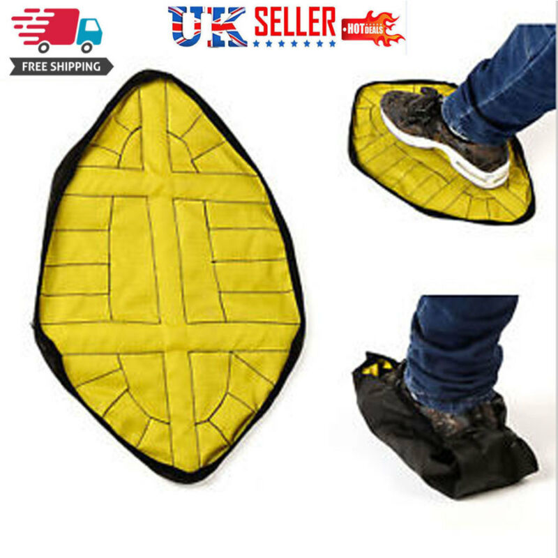 Handsfree Automatic Step Sock Shoe Cover Reusable Shoes Covers Carpet Protectors