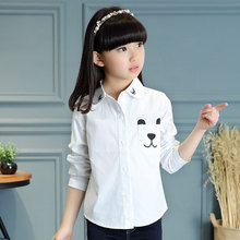 2016 new fall girls long-sleeved shirt pocket bear long-sleeved shirt shirt big virgin casual fashion models US Size