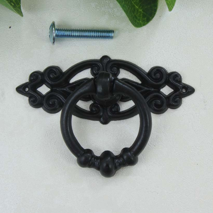 Beau Black Dresser Drawer Pulls Knobs Handles Shaky Drop Ring Cabinet Knobs  Handles Pulls Antique Furniture Decorative Knobs TC2023 In Cabinet Pulls  From Home ...