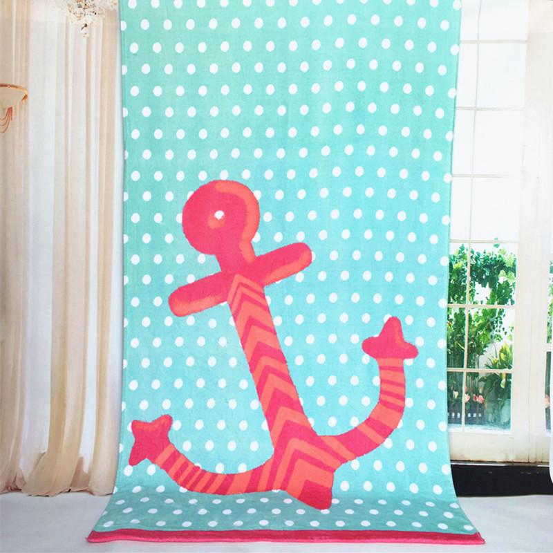 algodn patrn de barco pirata ancla verde toalla de playa cm