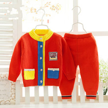 Infant outerwear Baby sweater Toddler cardigan  Baby girl clothes Baby boy clothes Boy girl boy suits two-piece CC057