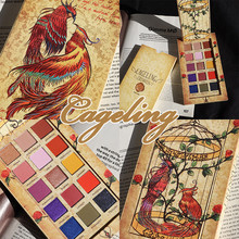 15 Color Bird Cage Eyeshadow Pallete Shimmer Matte Glitter Eyeshadow Palette Diamond Balm Smoky Pigment Makeup Palette Cosmetic single eyeshadow pallete empty magnet palette shimmer matte glitter eyeshadow palette pigment smoky balm makeup palette cosmetic
