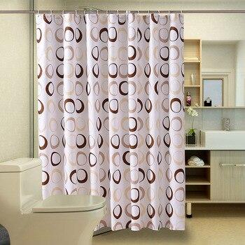 beach conch starfish circles waterproof bath curtain Circles Print Shower Curtain Geometric Waterproof Bath Curtains Bathroom For Bathtub Bathing Cover Extra Large Wide 12pcs Hooks