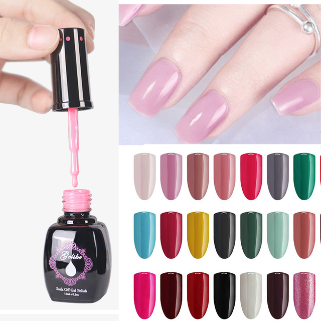 Gelike serie Profesional colores 15 ml Semi Permanentes UV Gel esmalte remojo Gel uñas esmalte LED UV uñas arte