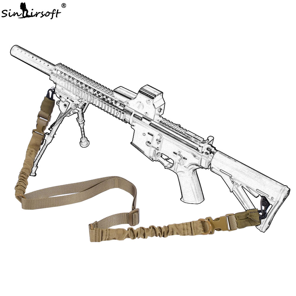 SINAIRSOFT Military Tactical Two 2 Point Sling Adjustable Double Point Rope Lanyard  Rifle Strap For CS,Hunting Airsoft Sling