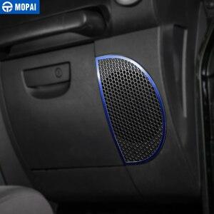 Image 5 - Anillo de decoración de altavoz para salpicadero de para coches MOPAI, pegatinas para Jeep Wrangler JK 2013 2018, accesorios de decoración para Interior de coche