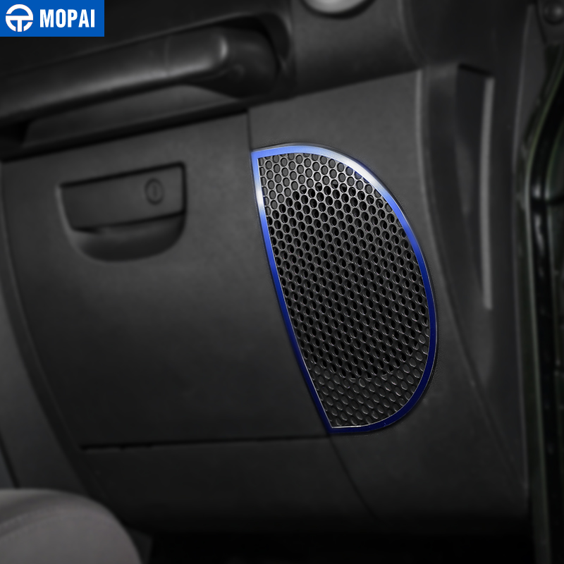 Image 5 - MOPAI Car Dashboard Audio Lound Speaker Decoration Ring Stickers for Jeep Wrangler JK 2007 2010 Interior Car Accessories Styling-in Interior Mouldings from Automobiles & Motorcycles
