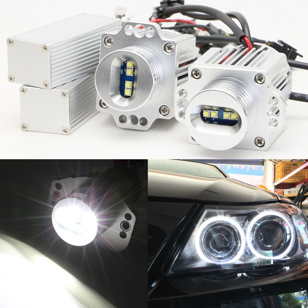 Free shipping 40w cree chip car led light led 12v angel eyes xenon kits for bmw e90 e91 angel eyes headlight led marker bulb