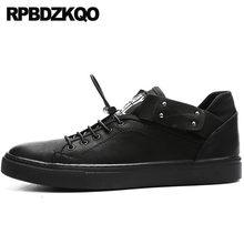 2018 Trainers Sneakers Comfort Printed Skate Casual Men Breathable Black  Elevator Flats Korean Hidden Height Increasing 95933dece229