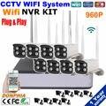 Новые Открытый беспроводной wi-fi камера hd ip 960 P 1.3 мегапиксельная безопасности 8-канальный видеорегистратор Безопасности WI-FI P2P Поддержка Комплект Onvif HDMI