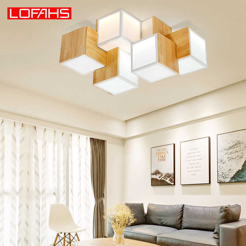 LOFAHS Modern LED Chandelier Lighting remote control Emitting cube lamp For Living Room bedroom Ceiling Chandelier kitchen