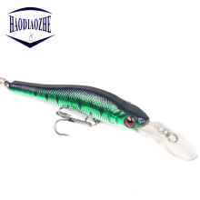 Купить с кэшбэком 1PCS Fishing Lure Minnow 9.5cm 6g Isca Artificial Crankbait Hard Bait Tight Wobblers Slow Sinking Jerkbait Pesca Fishing Tackle