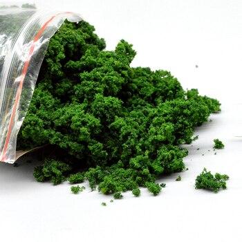 Spielzeug sand tisch, der 50g modell gras pulver baum dunkelgrün zug bau mini landschaft diorama Weihnachten gras pulver