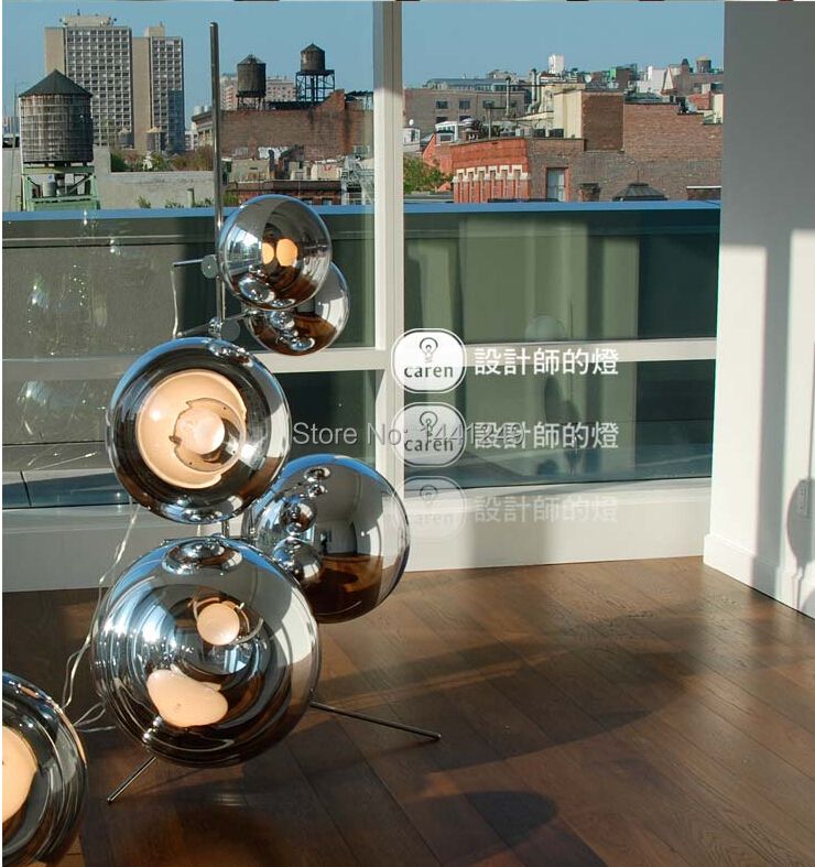 Tom Dixon Mirror ball on stand space ball floor lamp-in Floor Lamps ...